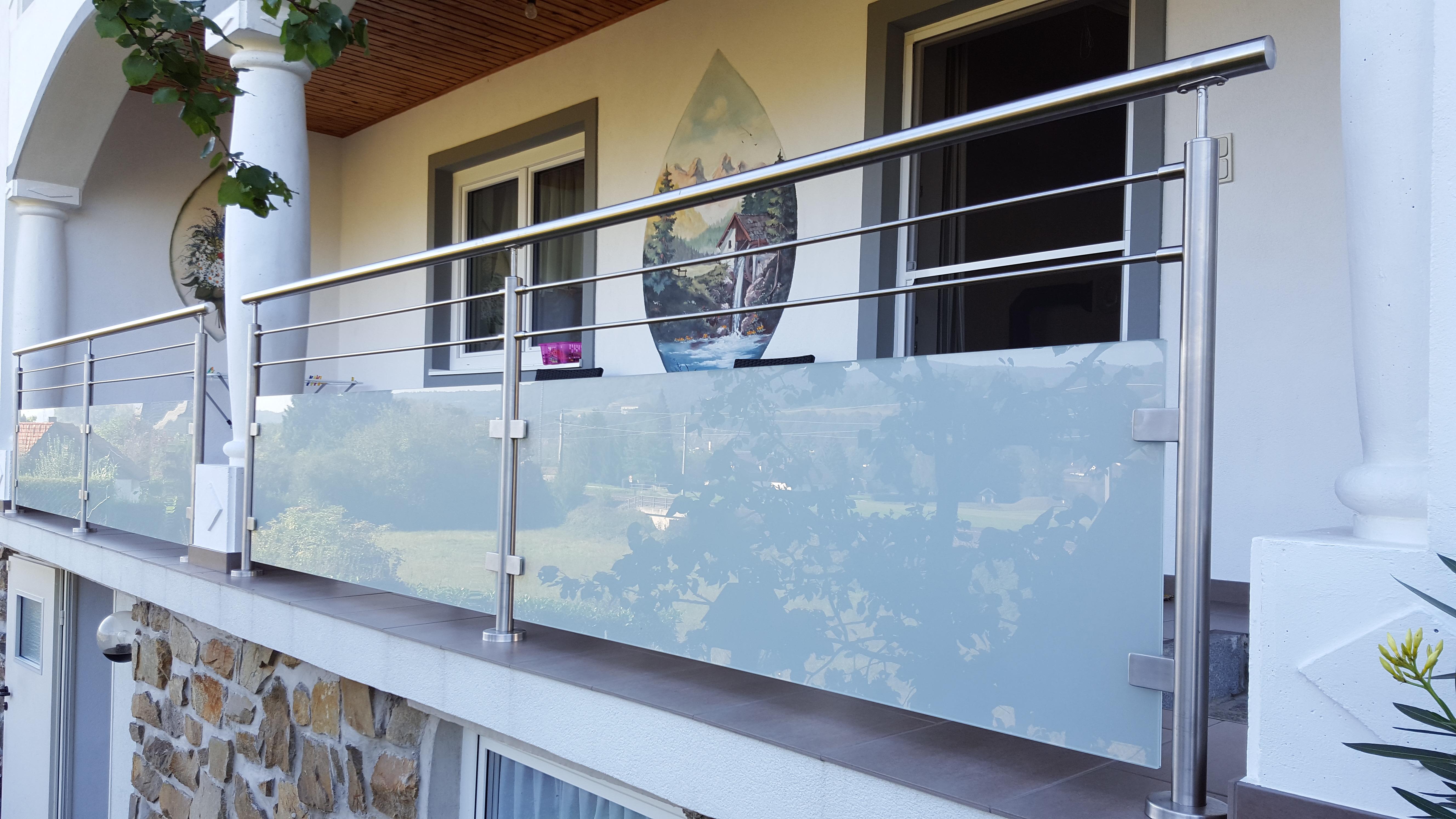 edelstahlgel nder mit glas balkongel nder balkon edelstahl altenglan kusel terrassengel nder. Black Bedroom Furniture Sets. Home Design Ideas